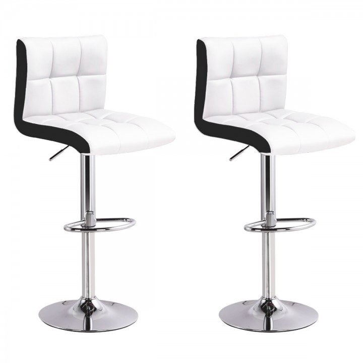 Lot de 2 tabourets de bar Magic Blanc