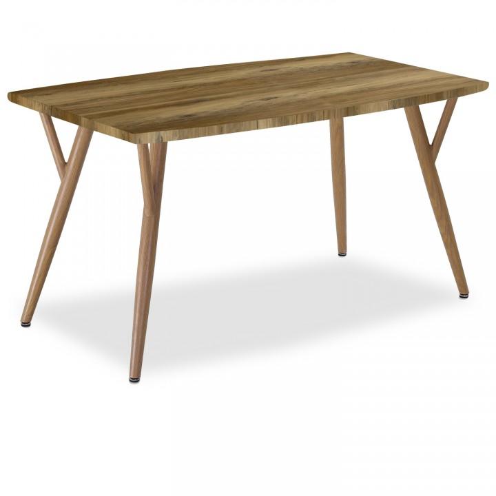 Table style scandinave Mya effet Chêne - 4 à 6 personnes