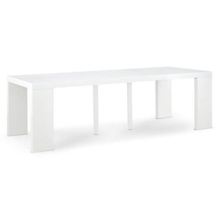 Table Console Extensible Oxalys XL Blanc Laquée