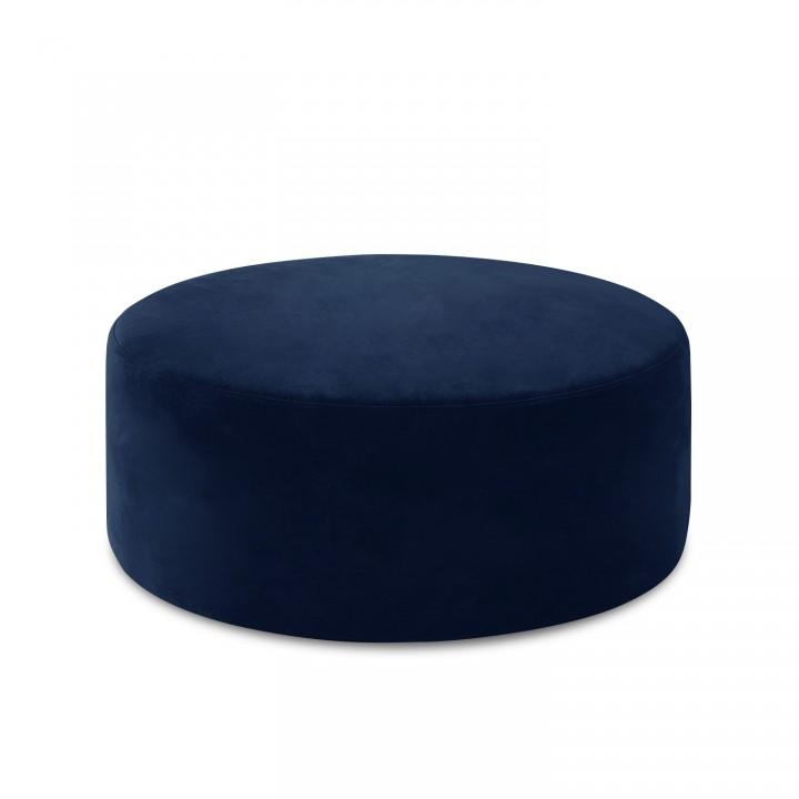 Pouf Rond XL Marki Velours Bleu Foncé