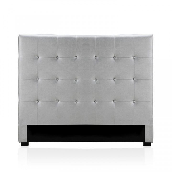 Tête de lit capitonnée Premium 140cm Argent