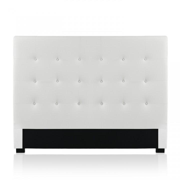 Tête de lit capitonnée Premium 160cm Blanc