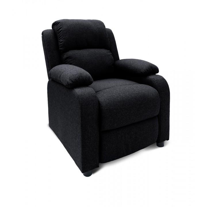 Fauteuil relax Riga tissu Noir