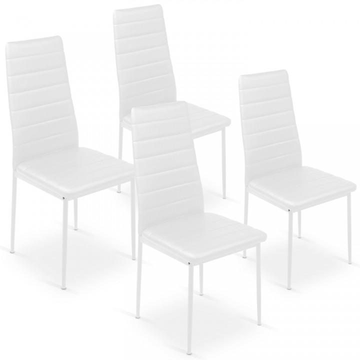 Lot de 4 chaises Strip Blanc