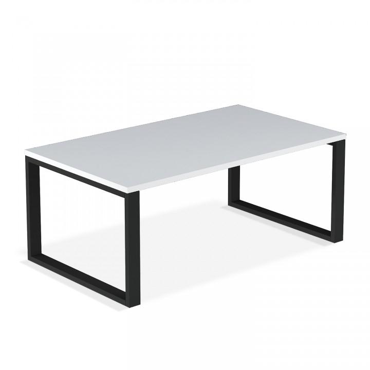 Table basse de style industriel Ava Blanc mat