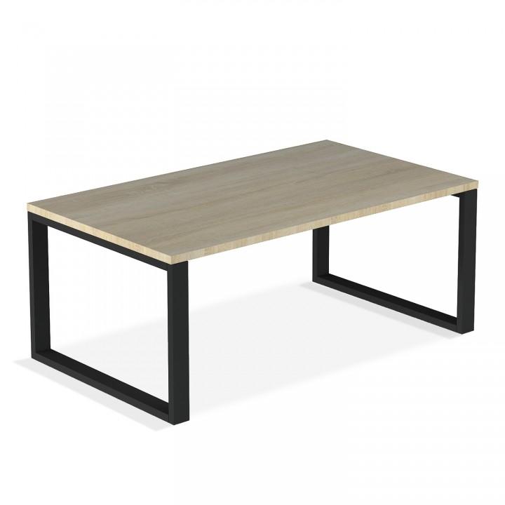 Table basse de style industriel Ava Effet Chêne