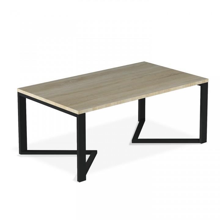 Table basse de style industriel Méryl effet Chêne