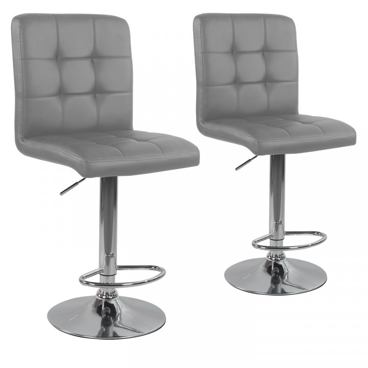 Lot de 2 tabourets de bar Max Gris