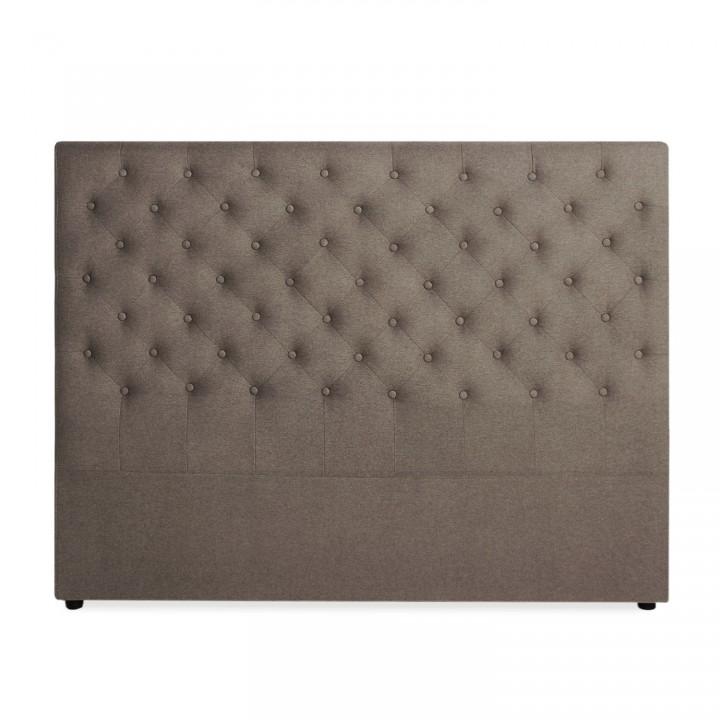 Tête de lit capitonnée Constance 160cm Tissu Taupe