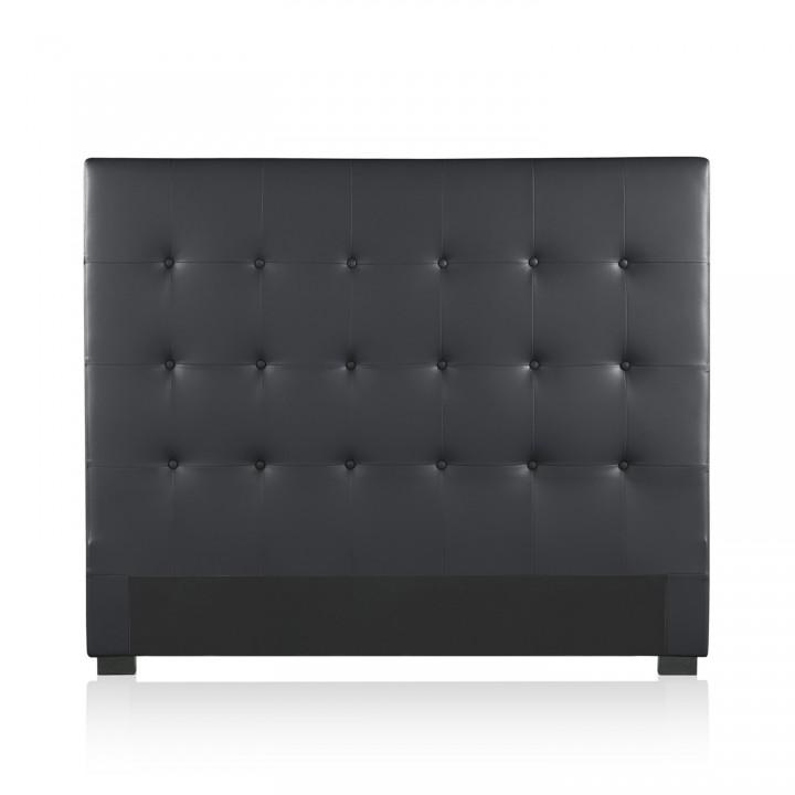 Tête de lit capitonnée Premium 140cm Noir