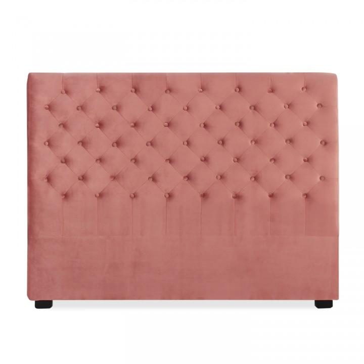 Tête de lit capitonnée Constance 160cm Velours Vieux Rose