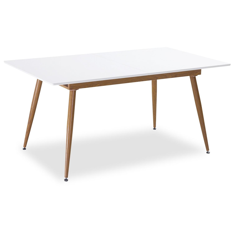Table À Manger Nordique table extensible scandinave betty blanc - 6 à 8 personnes