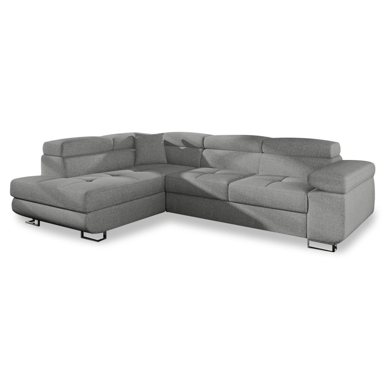 Mousse Polyuréthane 30 Kg M3 Canapé canapé d'angle gauche convertible marius tissu gris