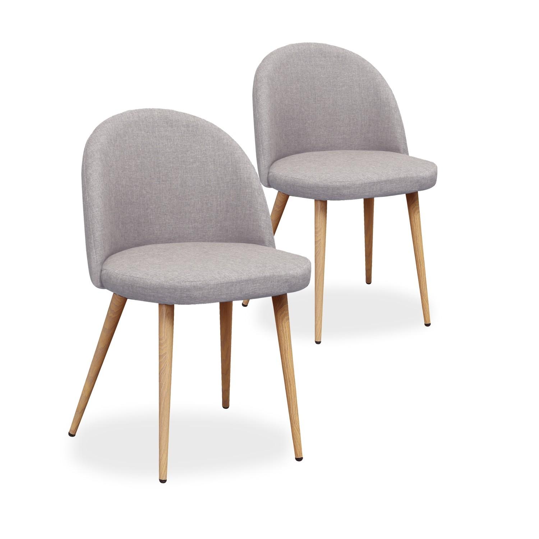 chaises scandinaves grises dossier arrondi