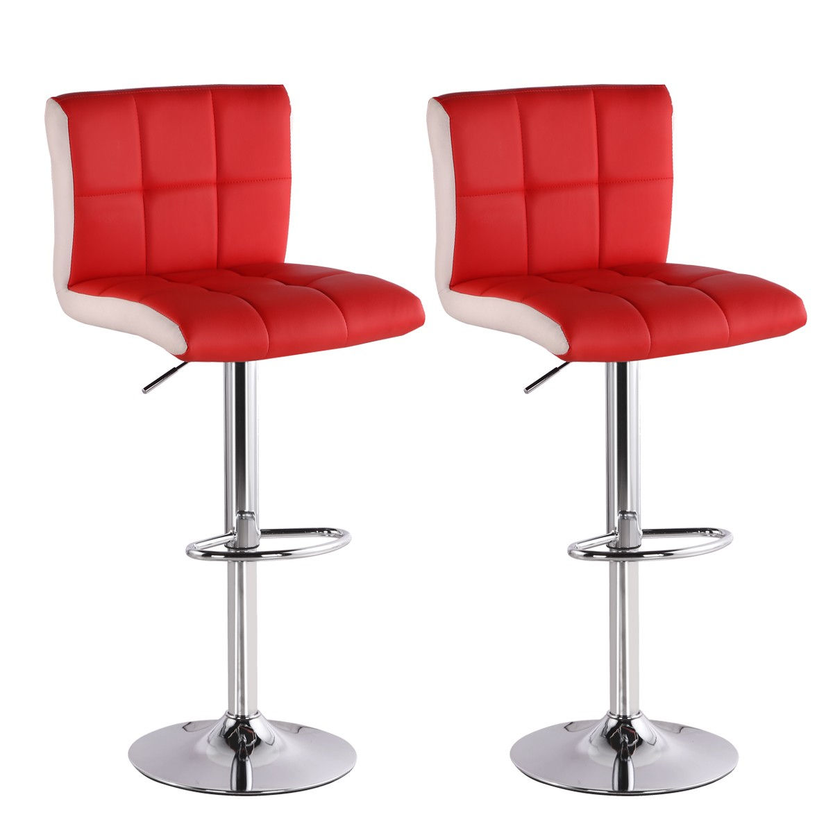 Lot de 2 tabourets de bar magic rouge - Tabouret de bar design rouge ...