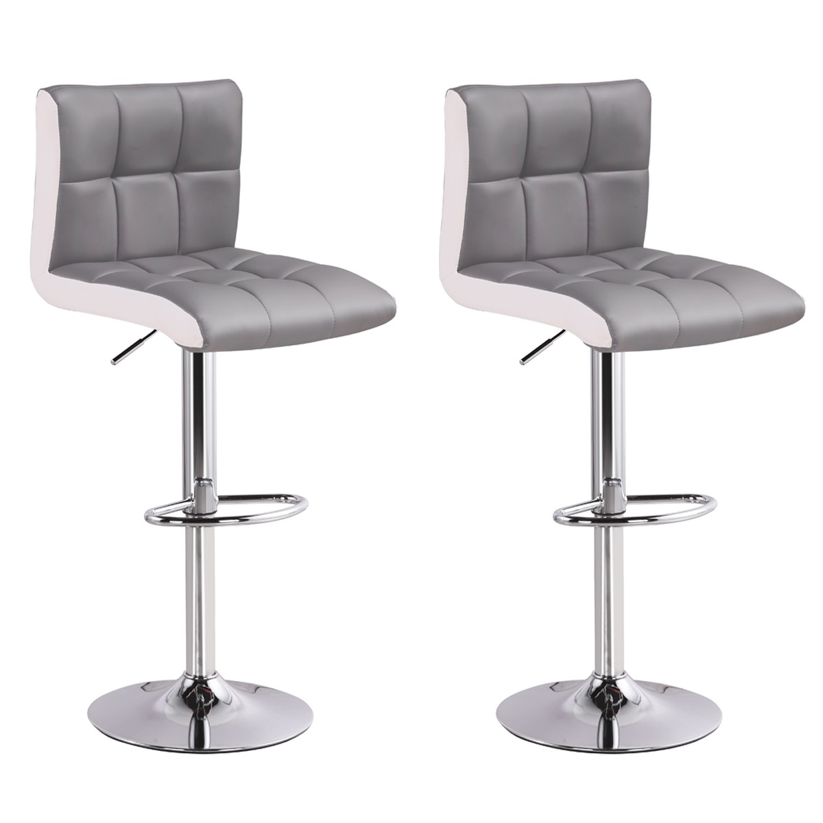 lot de 2 tabourets de bar magic gris chaise de bar chaise tabouret. Black Bedroom Furniture Sets. Home Design Ideas