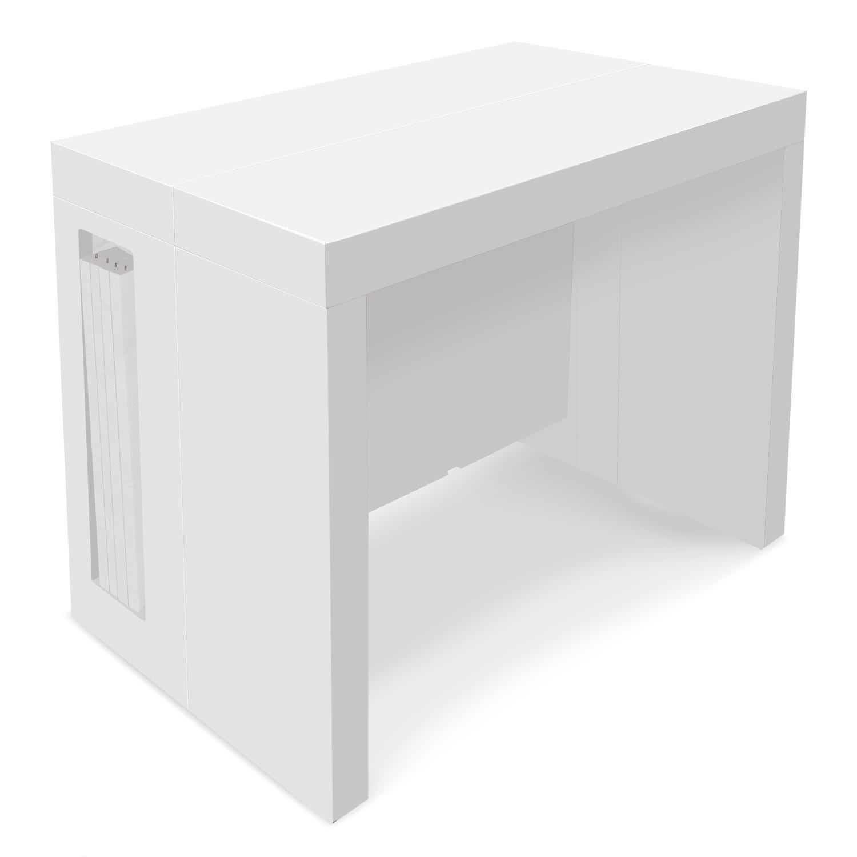 Blanc Loki Console Laqué Table Extensible BedxCo