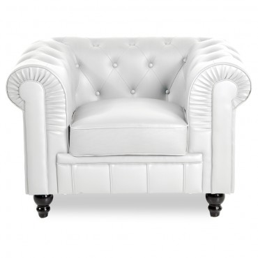 Fauteuil Chesterfield Regency Blanc