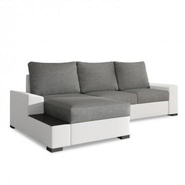 Canapé d'angle gauche convertible Gianni