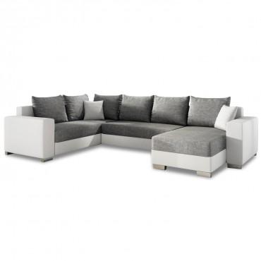 Canapé d'angle droit panoramique Octave