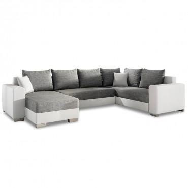 Canapé d'angle gauche panoramique Octave
