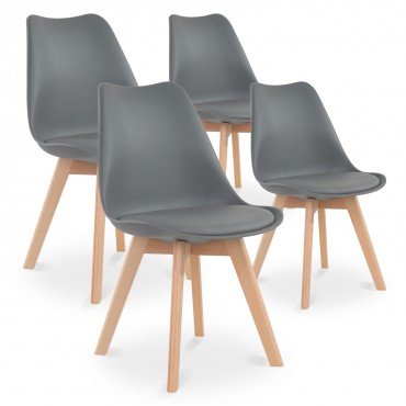 Lot de 4 chaises style scandinave Catherina