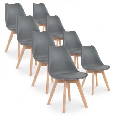 Lot de 8 chaises style scandinave Catherina