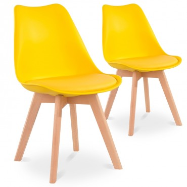 Lot de 2 chaises style scandinave Catherina