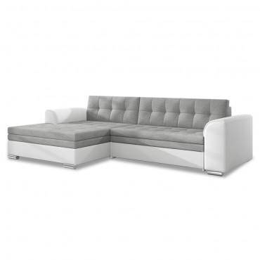 Canapé d'angle gauche convertible Lima
