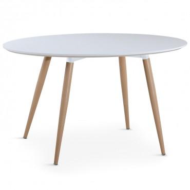 Table ovale scandinave Lunea Blanc