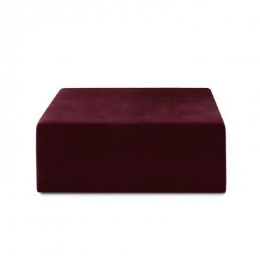 Pouf Carré XL Soren Velours Rouge