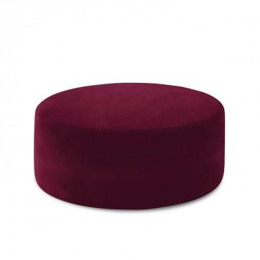 Pouf Rond XL Marki Velours Rouge