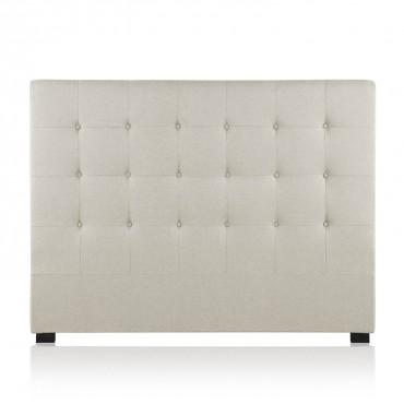 Tête de lit capitonnée Premium Tissu 160cm Beige