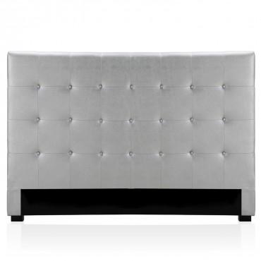 Tête de lit capitonnée Premium 180cm Argent