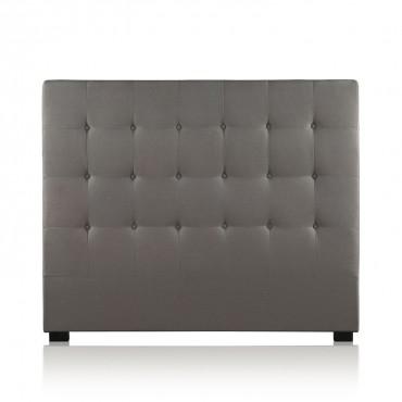 Tête de lit capitonnée Premium Tissu 140cm Taupe