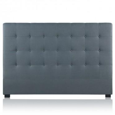 Tête de lit capitonnée Premium Tissu 180cm Gris