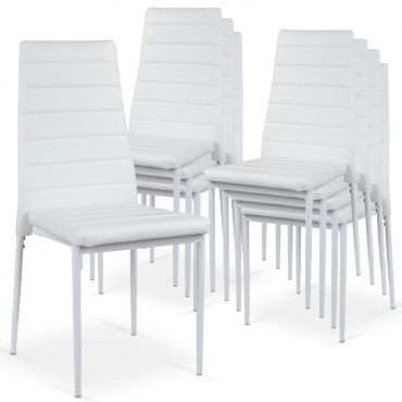 Lot de 8 chaises Strip empilables
