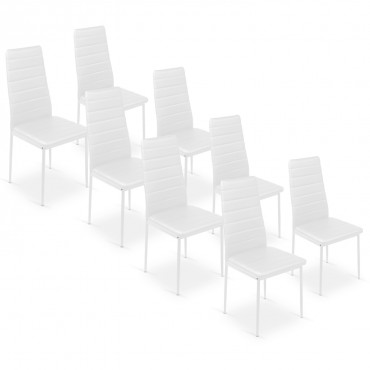 Lot de 8 chaises Strip