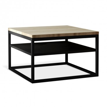 Table basse de style industriel Tess effet Chêne