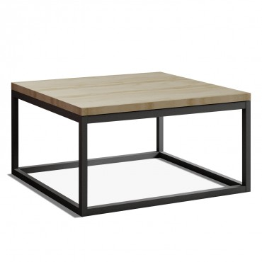 Table basse de style industriel Véronica Effet Chêne