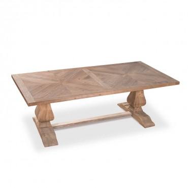 Table en pin de style monastère à chevrons CASSANDRE