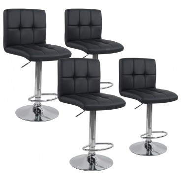 Lot de 4 tabourets de bar Elegant