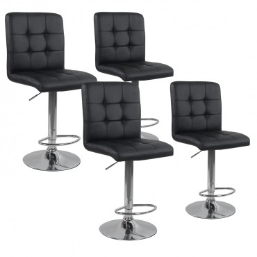 Lot de 4 tabourets de bar Max