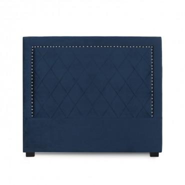 Tête de lit Nolwen Velours Bleu Foncé 140cm