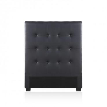 Tête de lit capitonnée Premium 90cm Noir