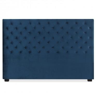 Tête de lit capitonnée Constance 180cm Velours Bleu Foncé