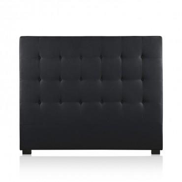 Tête de lit capitonnée Premium Tissu 140cm Noir