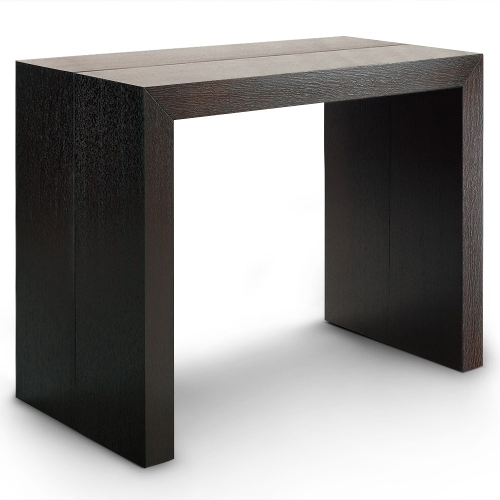 Table console extensible oxalys bois wenge - Table console extensible en bois ...