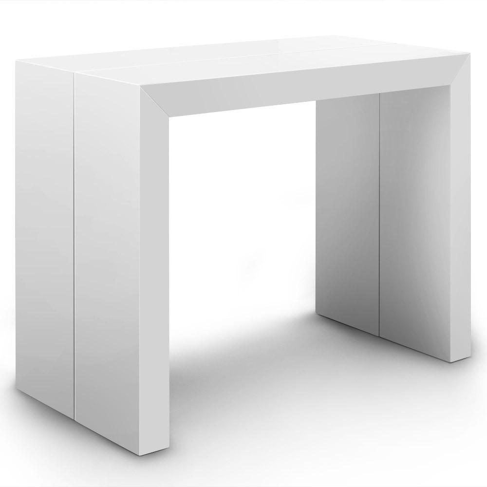 table console extensible oxalys xl blanc laqu e. Black Bedroom Furniture Sets. Home Design Ideas