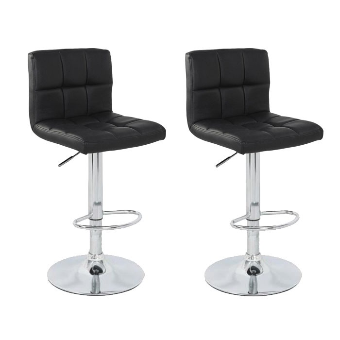 lot de 2 tabourets de bar elegant noir chaise tabouret soldes. Black Bedroom Furniture Sets. Home Design Ideas